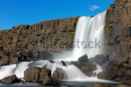 Islande cascade parc ciel printemps Voyage Photo stock © elxeneize