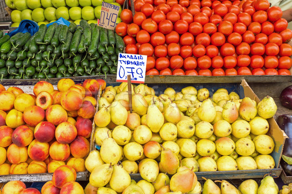 Piles of fruits Stock photo © elxeneize