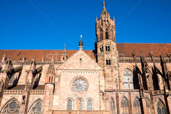 Detail of the Freiburg minster Stock photo © elxeneize