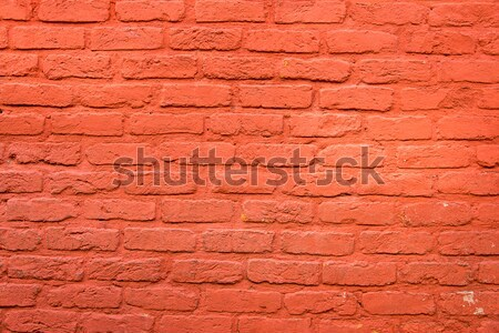 Brickwall with red plaster Stock photo © elxeneize
