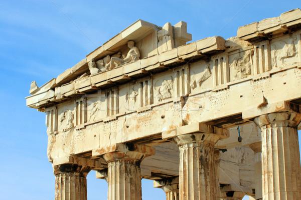 Detalle Partenón cerca azul arquitectura Europa Foto stock © elxeneize