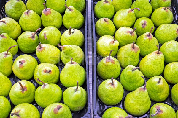 Green pears for sale Stock photo © elxeneize