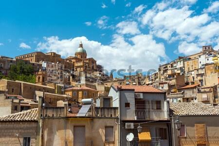 Sycylia Włochy starych miasta budynku kościoła Zdjęcia stock © elxeneize