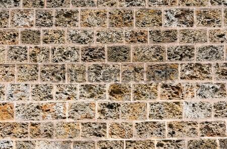 Eski doğal taş duvar inşaat kaya kale Stok fotoğraf © elxeneize
