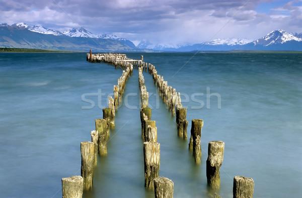 Ultimo speranza suono cielo acqua legno Foto d'archivio © elxeneize
