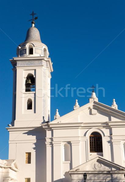 Stock fotó: Templom · Buenos · Aires · égbolt · város · városi · történelem
