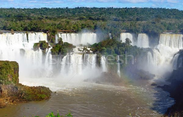 View of the Iguazu Falls Stock photo © elxeneize
