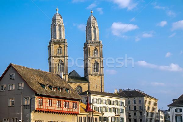 The old town of Zurich Stock photo © elxeneize