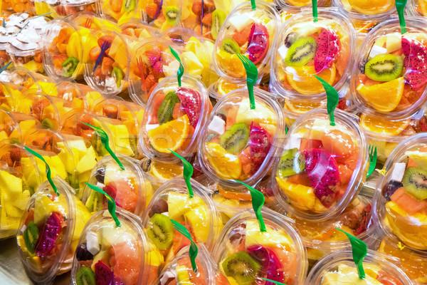 Fruto mercado variedade cidade laranja compras Foto stock © elxeneize