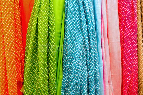 Colourful drapery Stock photo © elxeneize