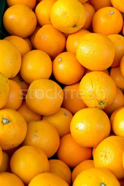 Fresh clementines on a market Stock photo © elxeneize
