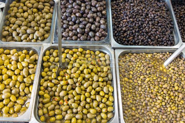 Selection of olives Stock photo © elxeneize