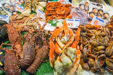 Stock photo: Shrimps and other seafood