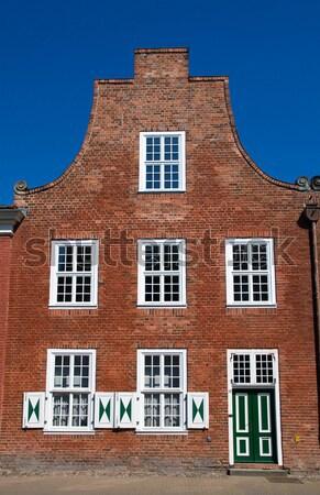 Casa holandês trimestre típico cidade construção Foto stock © elxeneize