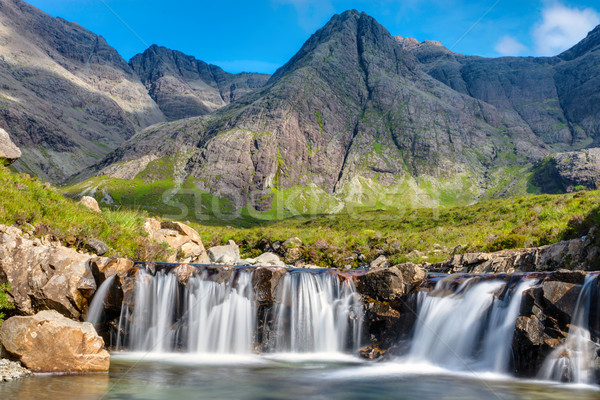 Small waterfall on the Isle of Skye Stock photo © elxeneize