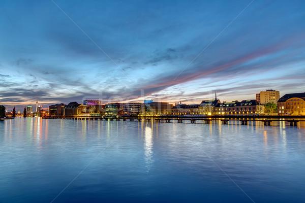 The river Spree in Berlin at dawn Stock photo © elxeneize