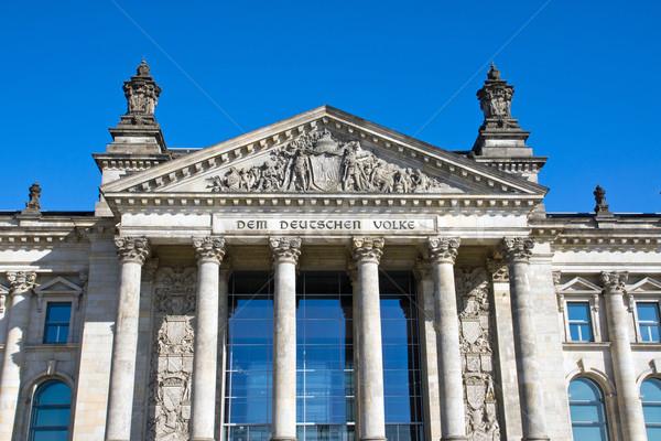 Entrance to the Reichstag Stock photo © elxeneize
