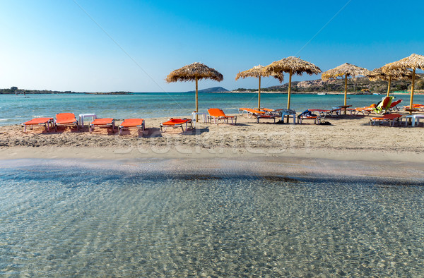 Lovely beach on Crete island Stock photo © elxeneize