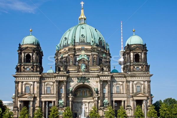 The Berlin Dom on a sunny day Stock photo © elxeneize