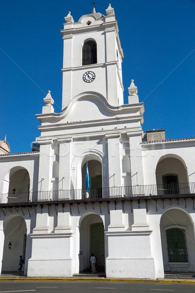 исторический Буэнос-Айрес майонез Аргентина небе синий Сток-фото © elxeneize