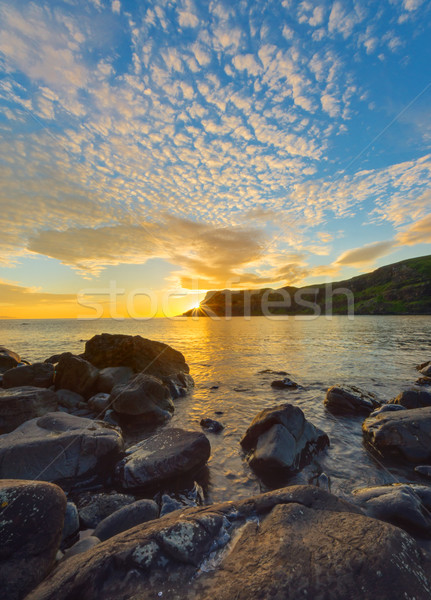 Amazing sunset on the Isle of Skye Stock photo © elxeneize