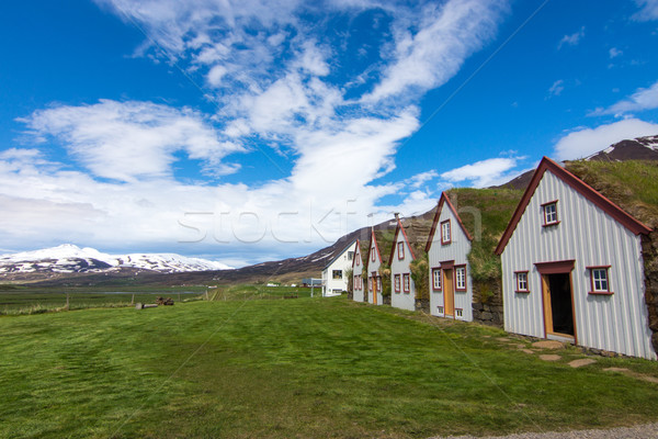The old Laufas farm in Iceland Stock photo © elxeneize