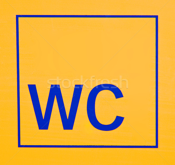 WC Sign Stock photo © elxeneize