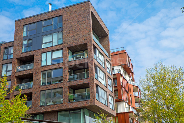 Stock photo: Apartment houses in the Hafencity