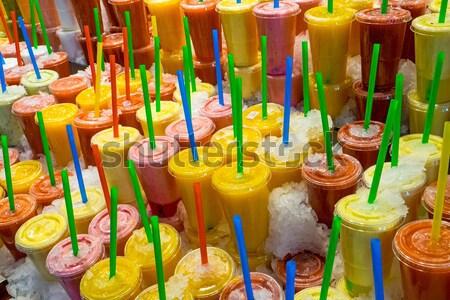 Stock fotó: Gyümölcs · piac · Barcelona · étel · háttér · jég