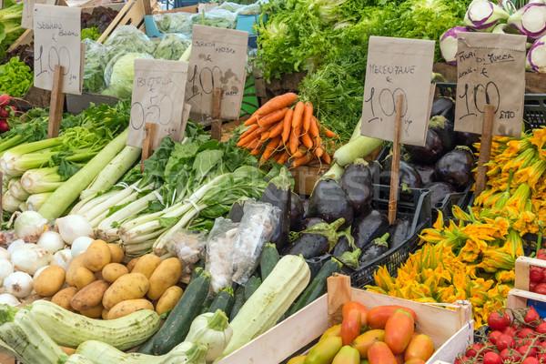 свежие овощи рынке продовольствие природы зеленый Салат Сток-фото © elxeneize