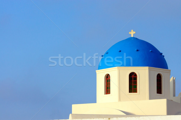 Church in Oia, Santorini Stock photo © elxeneize