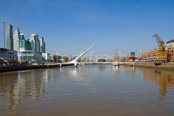 Stock fotó: Buenos · Aires · Argentína · víz · város · épületek · városi