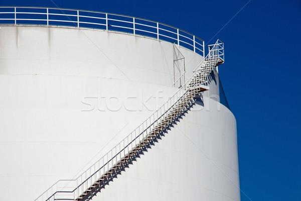 Big white industrial tank Stock photo © elxeneize