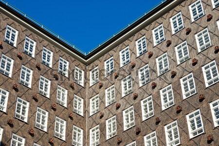 Historic building facade in Hamburg Stock photo © elxeneize