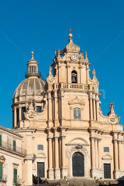 Barroco catedral céu cidade mundo porta Foto stock © elxeneize