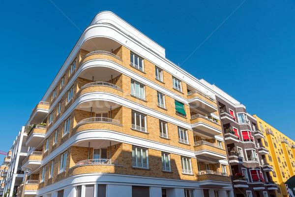 Moderno apartamento casas Berlim Alemanha edifício Foto stock © elxeneize