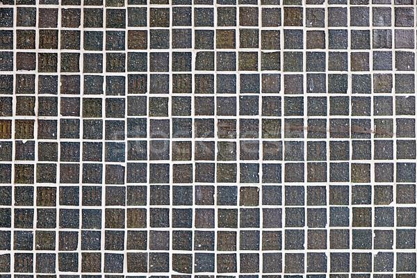 Gri mozaik fayans soyut ışık dizayn Stok fotoğraf © elxeneize
