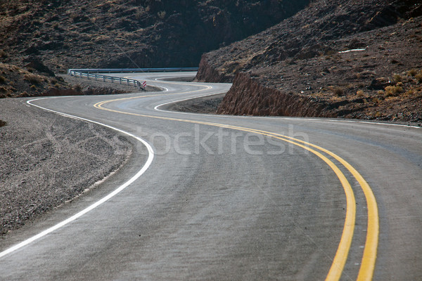 Twisting road in northern Argentina Stock photo © elxeneize