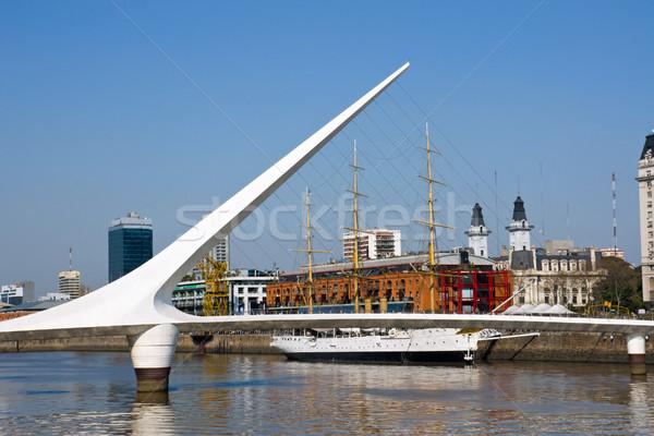 LA Buenos Aires Argentína víz város épületek Stock fotó © elxeneize