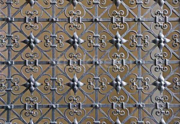 Decorativo ferro sicurezza castello acciaio recinzione Foto d'archivio © elxeneize