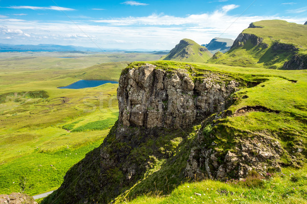 Green landscape on the Isle of Skye Stock photo © elxeneize