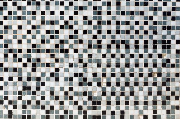 Bianco · nero · grigio · mosaico · piastrelle · bagno foto