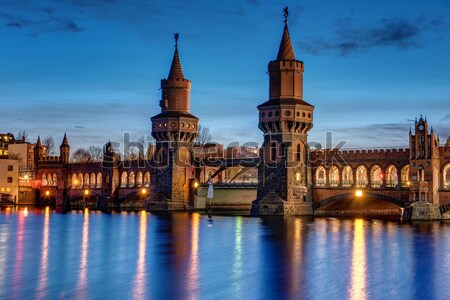 The Oberbaum Bridge in Berlin Stock photo © elxeneize