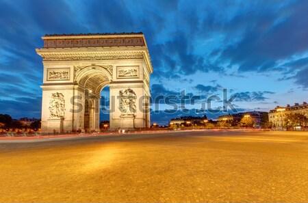 The famous Arc de Triomphe in Paris Stock photo © elxeneize