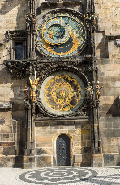 Pragues astronomical clock  Stock photo © elxeneize