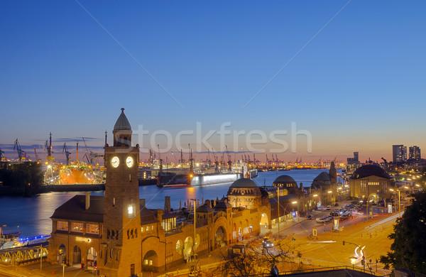 The Hamburg harbor Stock photo © elxeneize