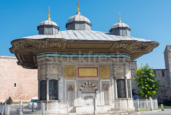 The Fountain of Sultan Ahmed III Stock photo © elxeneize