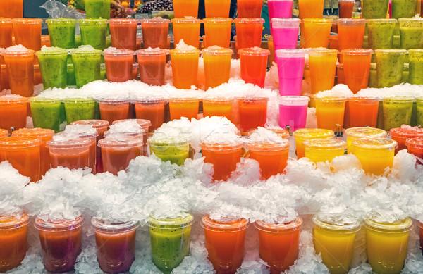 Tasty smoothies at a market Stock photo © elxeneize