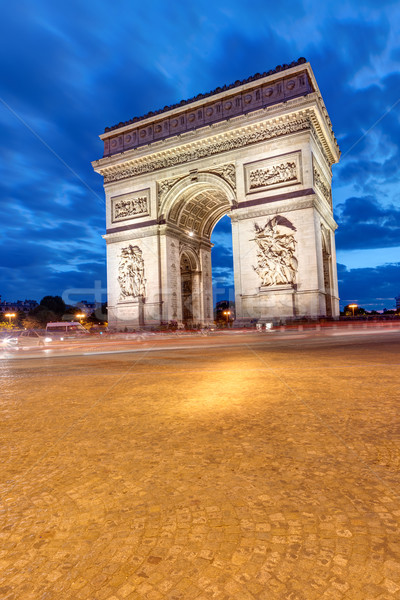 The Arc de Triomphe in Paris Stock photo © elxeneize