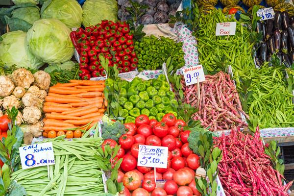 Piles of vegetables for sale Stock photo © elxeneize